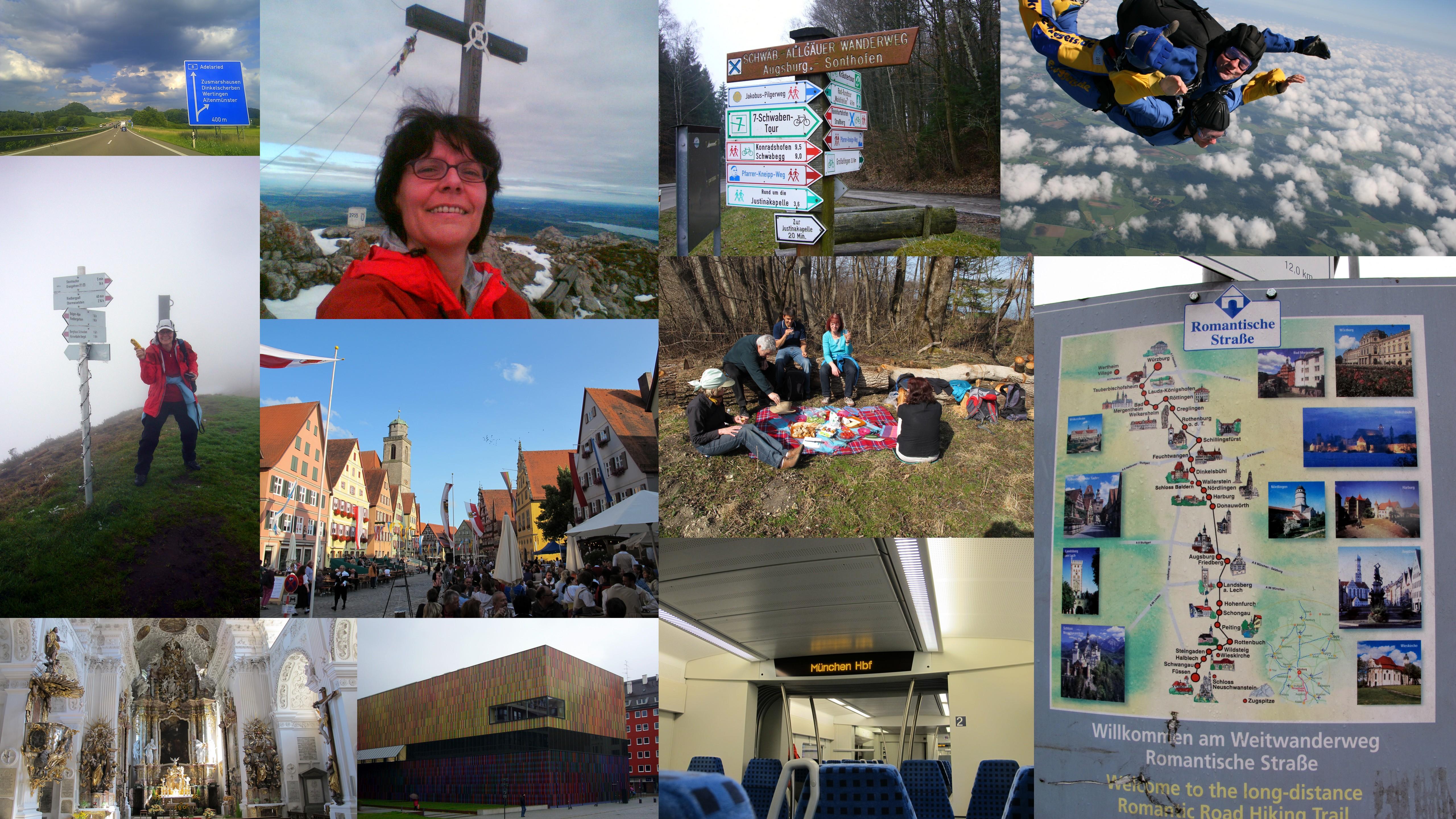 ...und dann sind da noch Ausflüge in die Berge, wandern entlang der Romantischen Straße und des bayerischen JaKobsweges, regelmäßige Ausflüge in die Landeshauptstadt, Museumsbesuche, regionale Festivitäten, das Land auf der Straße und aus der Luft!