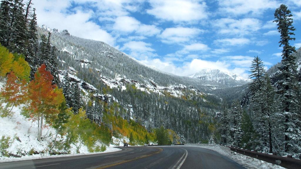 Pass in den südlichen Rocky Mountains