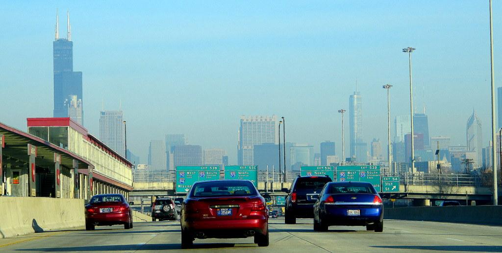 Eine Fahrt durch Chicago ist auch am frühen Sonntagmorgen spannend!