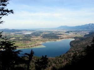 Vierseenblick - Weissensee, Hopfensee, Forggensee, Bannwaldsee