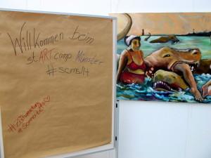 Welcome mit Kunst!