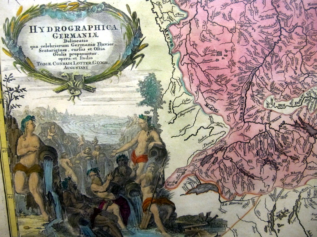 Gewässerkarte von Deutschland Ende des 18. Jahrhunderts