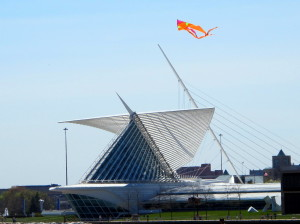 Auf dem Kite Festival - Calatrava Art Museum in Milwaukee
