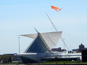 Auf dem Kite Festival - Calatrava Art Museum in Milwaukee