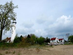 Leuchtturm in Racine am Lake Michigan