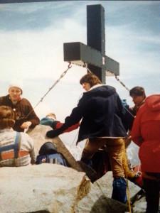 1984 auf dem Gipfel des Zuckerhütl