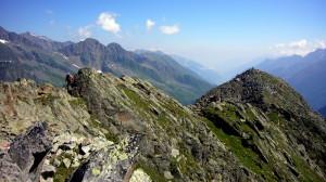 Abstieg - Blick Richtung Innsbruck/Nordkette