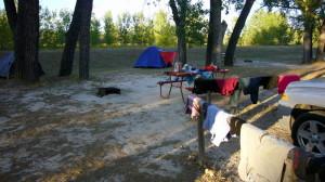 Waschtag auf einem KOA in South Dakota in der Nähe des Badlands NP