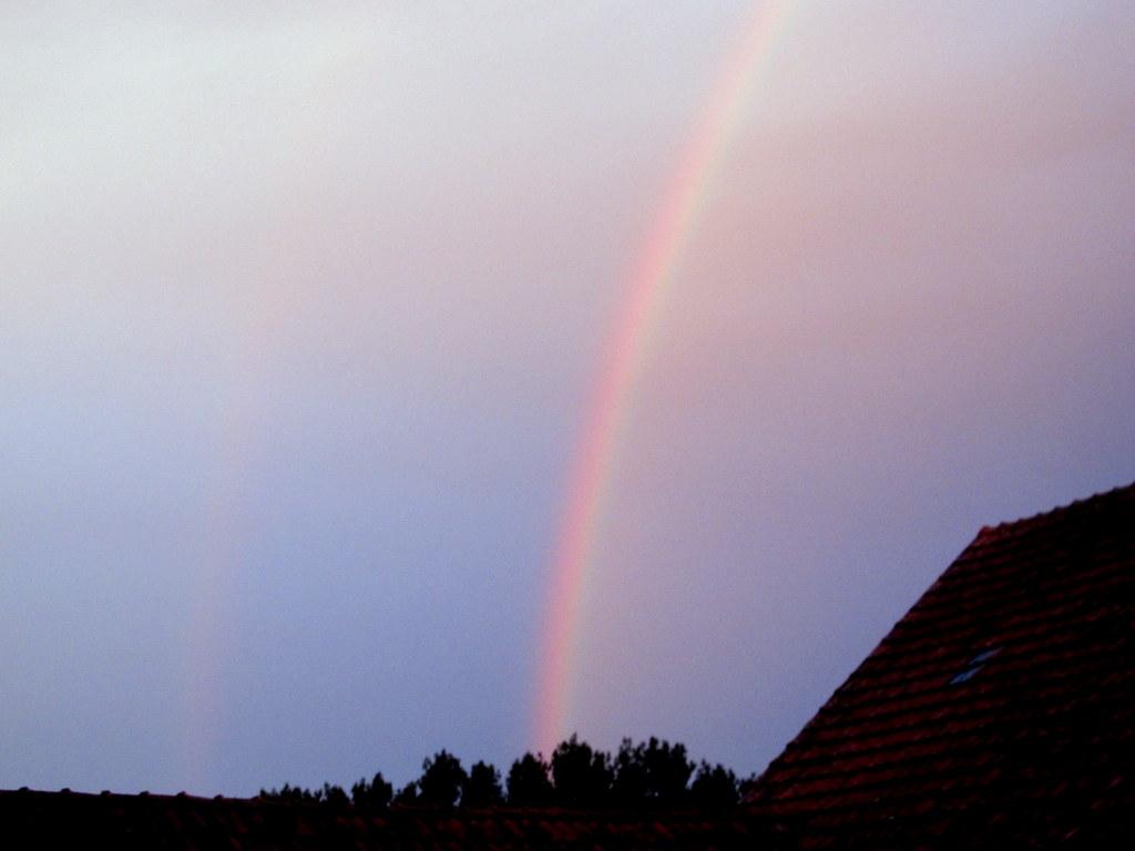 Morgens grüßt ein Regenbogen