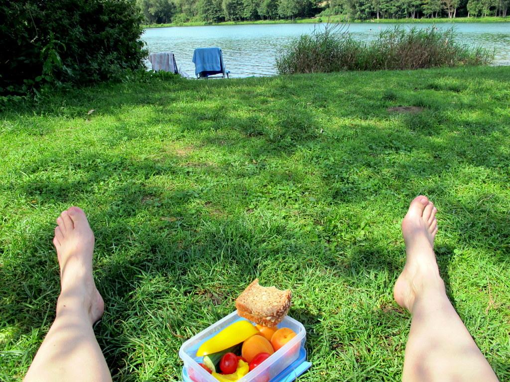 Die Mittagsrast am dritten Tag wurde mit einer erfrischenden Schwimmeinlage versüßt