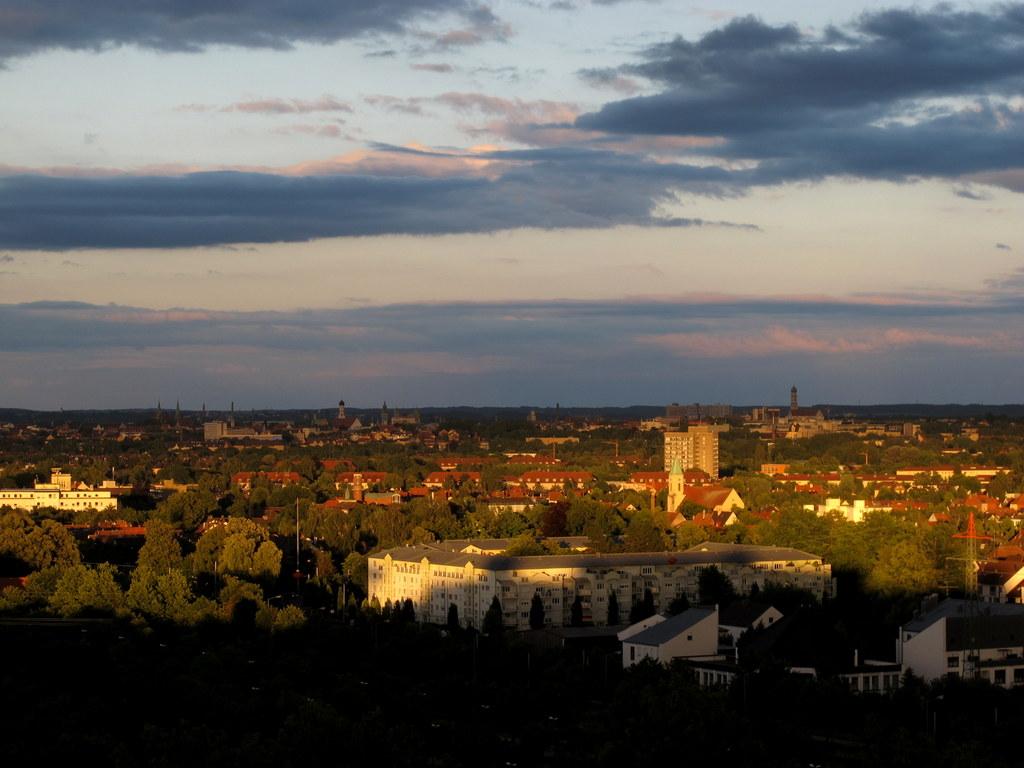 Augsburg im Abendlicht - schon schön hier