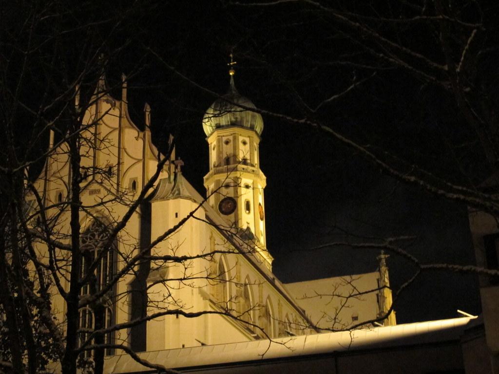 St. Ulrich bei Nacht