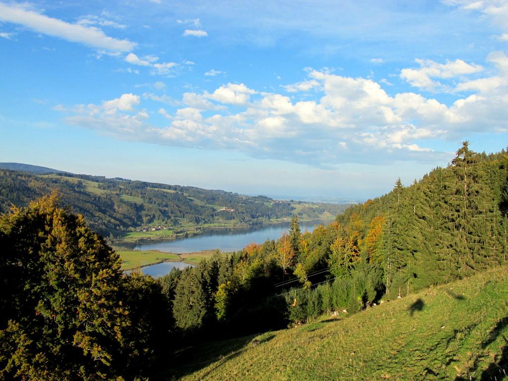 Blick auf den Alpsee aus dem Sessellift Alpsee Bergwelt