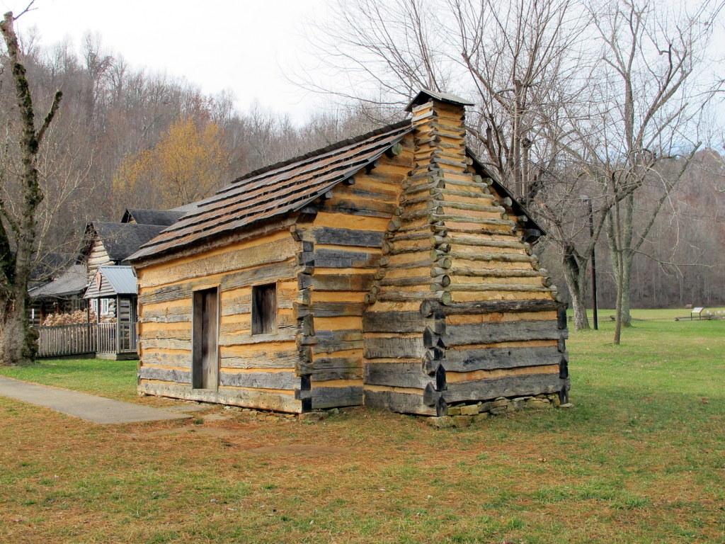 Replika Abraham Lincolns Geburtshaus - hier war alles geschlossen