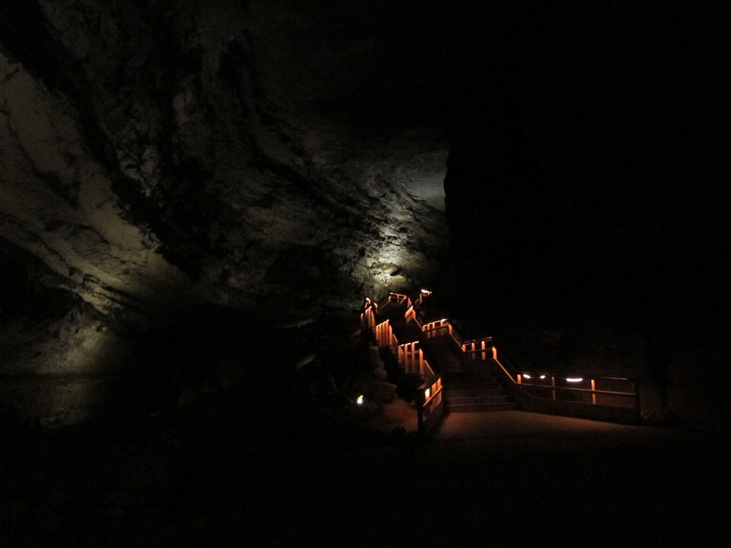 Mammoth Caves, die übrigens nicht so heißen, weil man dort Mammuts gefunden hat, sondern weil es angeblich das größte Höhlensystem der, ähem, Welt sein soll...