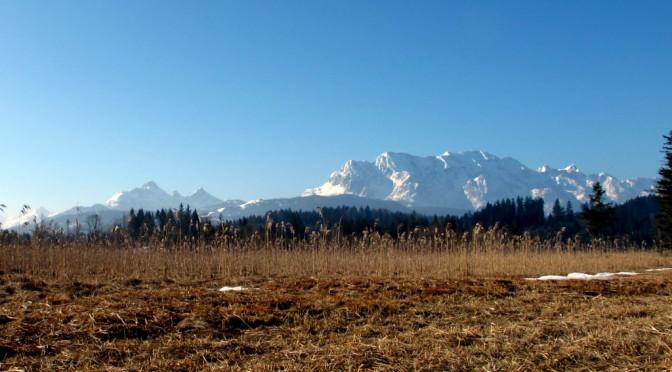Sonne, Berge, ein Wochenende in Krün