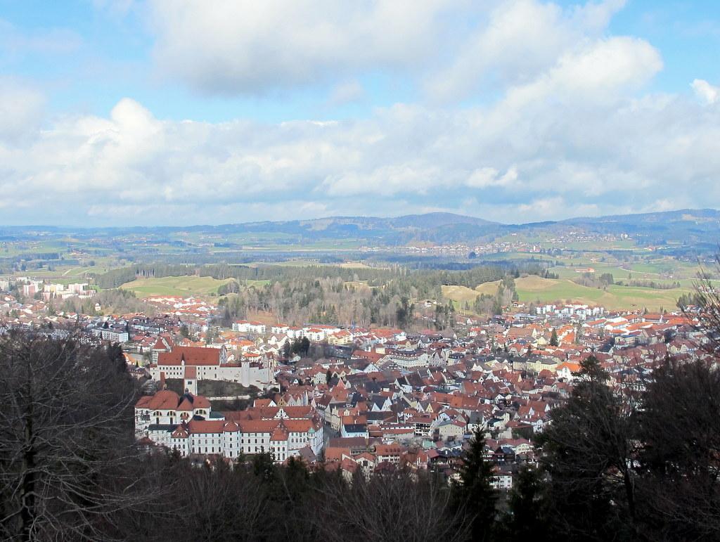 Blick auf Füssen vom Kalvarienberg