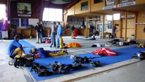 Vorbereitung im Hangar