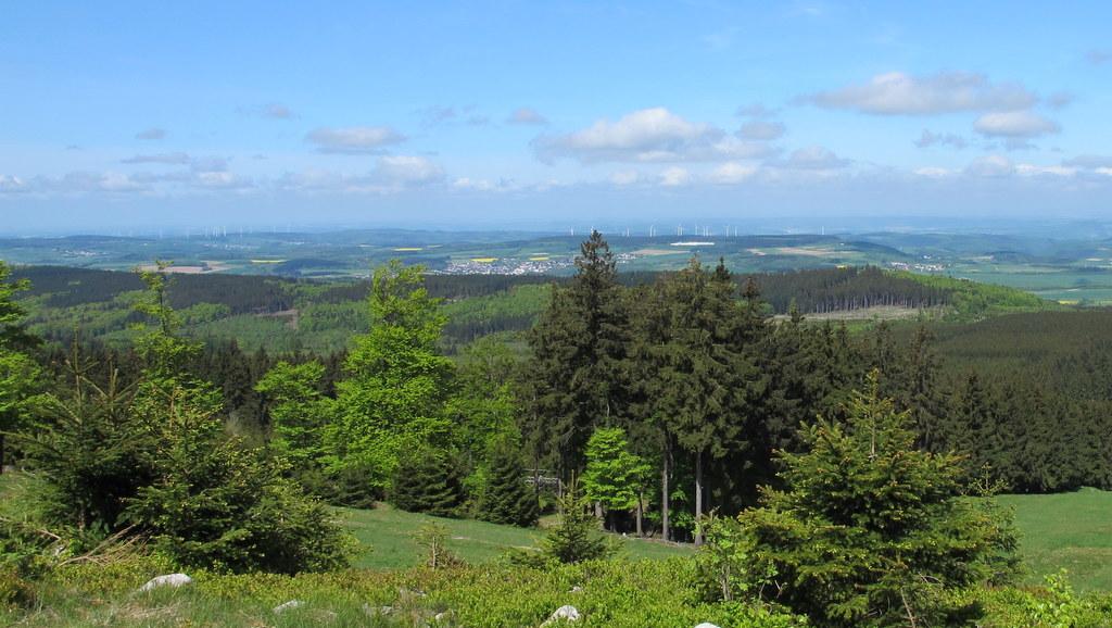 Blick vom Erbeskopf, dem höchsten Berg in Rheinland-Pfalz
