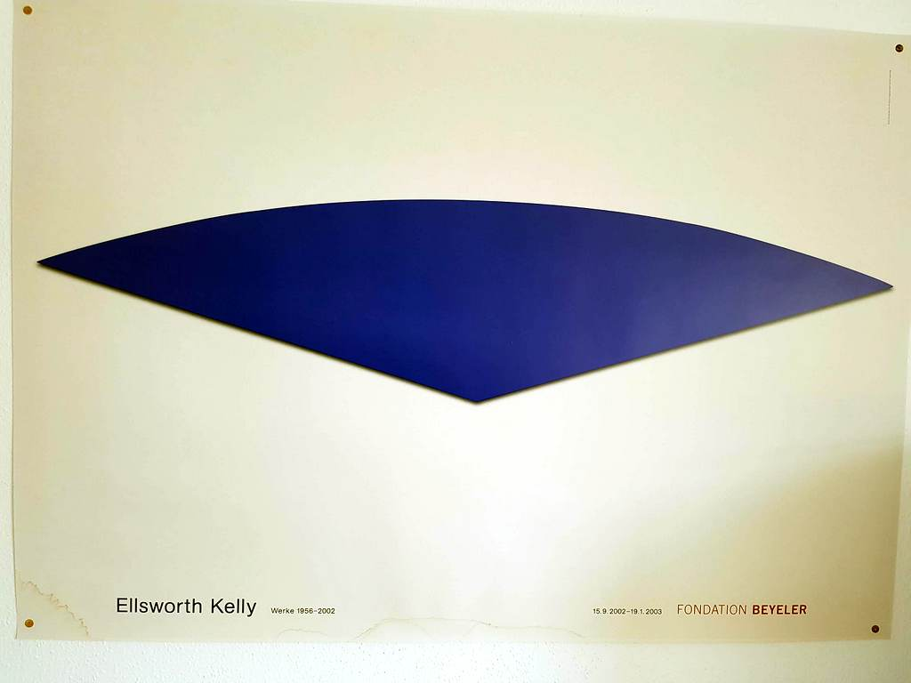 Plakat der Fondation Beyeler 'Ellsworth Kelly'