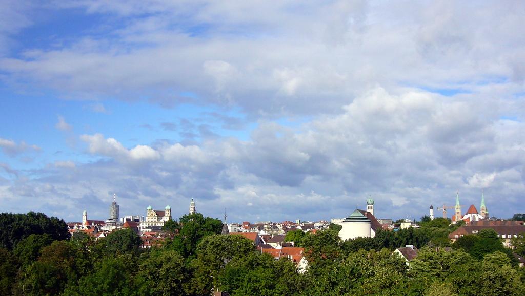 Blick über Augsburg
