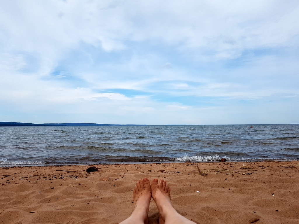 baden im Lake Superior